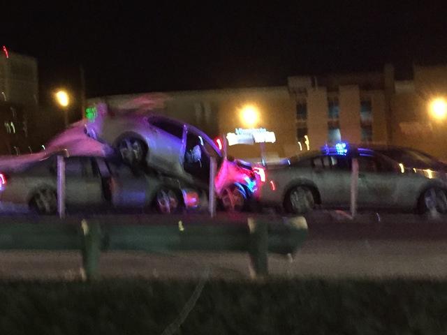 State Patrol auto in multi-vehicle crash; trooper uninjured