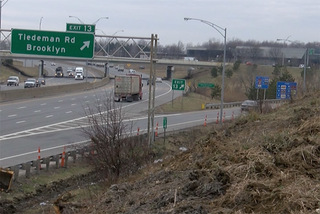 Why are trees being cut down along I-480?