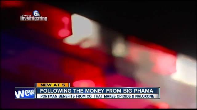 Pharma company linked to Ohio senator benefits from opioid addiction and treatment