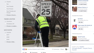 Speed limit signs illegally swapped by resident