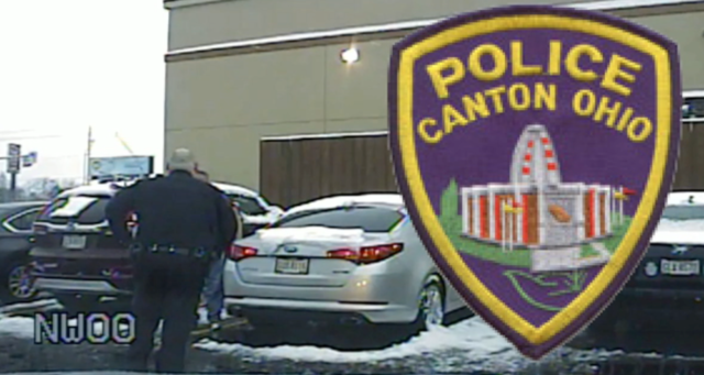 Canton Police Department officer found passed out behind wheel of car-…