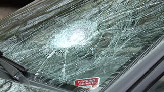 Concrete thrown from overpass onto cars on I-77