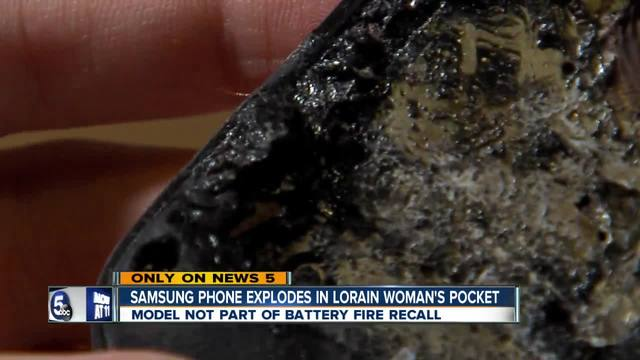 Lorain woman-s Samsung cell phone sets fire to her pocket