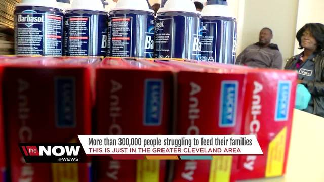 Hundreds of thousands of people -food insecure- in Cleveland