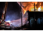 Fire tears through Canton lumber business