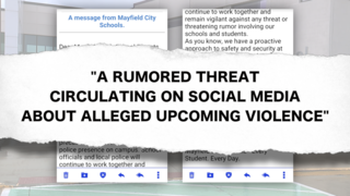 Mayfield High School parents warned of threat