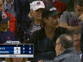 Matthew McConaughey attends Indians game