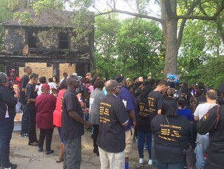 Vigil held for Akron fire victims