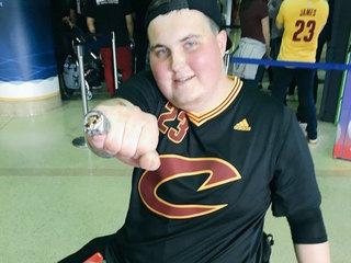 Cavs fan battling cancer meets LeBron James