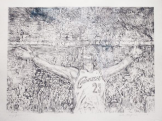 'King James' is artist's tribute to LeBron James