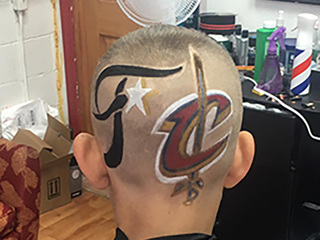 Cleveland barbershop creates Cavs inspired cuts