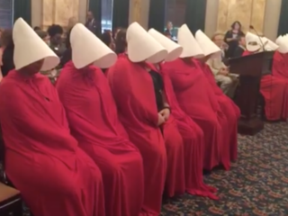 OH women use 'Handmaid's Tale' to make a point