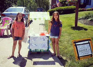 Lemonade stand raises money for cancer research