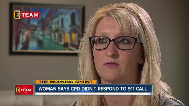 Woman says Cleveland police didn-t respond to 911 call after man smashed…