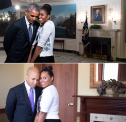 Cleveland couple honors Obamas in photo shoot