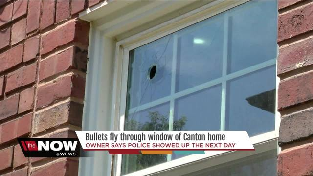Bullet flies through window of Canton home
