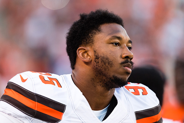 Browns rookie Myles Garrett out several weeks with high ankle sprain