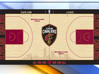Cavs unveil new home court design