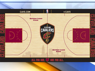 Cavs unveil new home court design