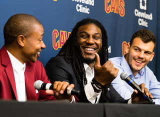 Cavs introduce Thomas, Crowder and Zizic