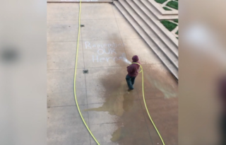 CSU blasted after 9/11 chalk art is washed away