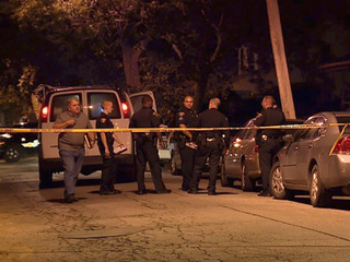 Man killed during gathering for murder victim
