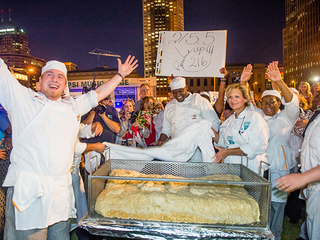 Tri-C makes the world's largest pierogi