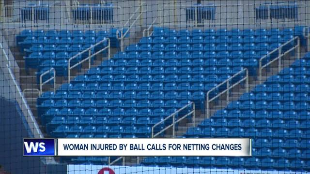 Woman injured by ball calls for netting changes