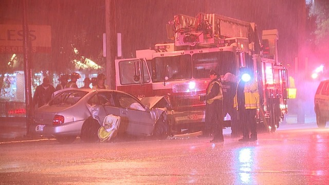 Driver dies in head-on crash with Cleveland fire truck
