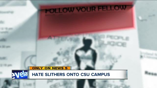 Flier targeting LGBT community posted around Cleveland State University-s campus