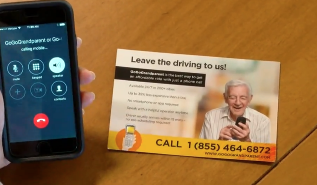 Go Go Grandparent- Ride sharing for senior citizens