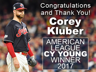Kluber wins AL Cy Young Award