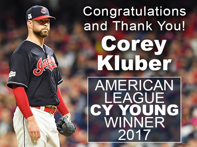 Corey Kluber wins 2017 AL Cy Young Award