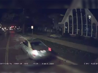 VIDEO: Driver hits Painesville fire truck