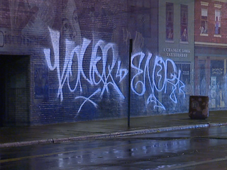 Iconic Cleveland mural vandalized with graffiti