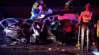 Two injured in wrong-way crash on I-90