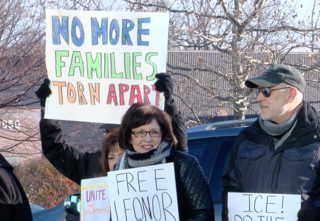 Woman facing deportation living at church