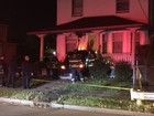 Family startled after car crashes into home