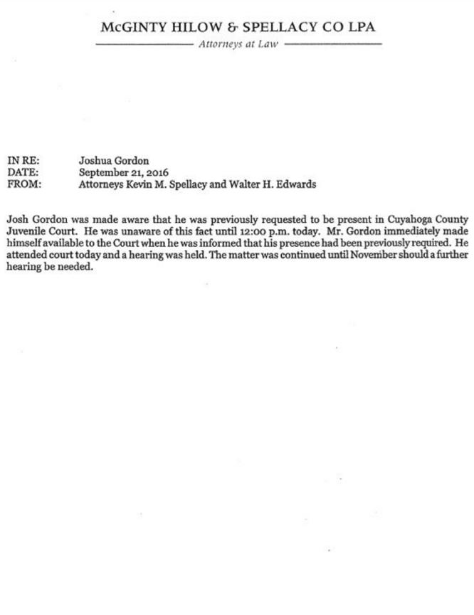 Gordon attorney statement