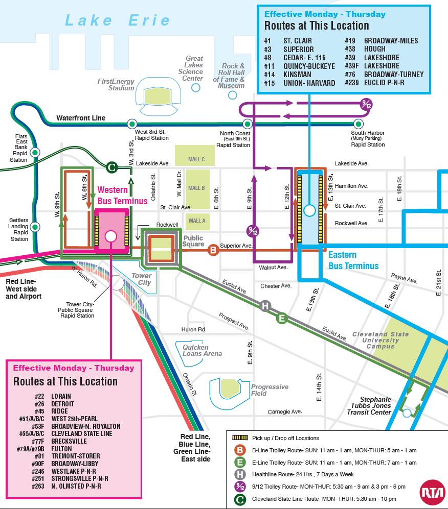 Cleveland Rta Map on