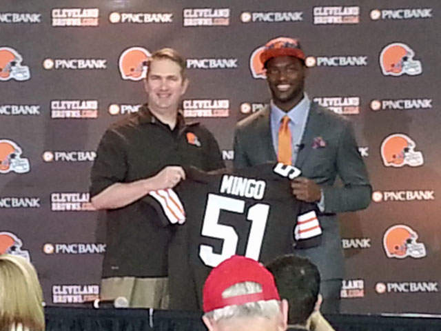 Browns first-round pick Barkevious Mingo meets Cleveland ...