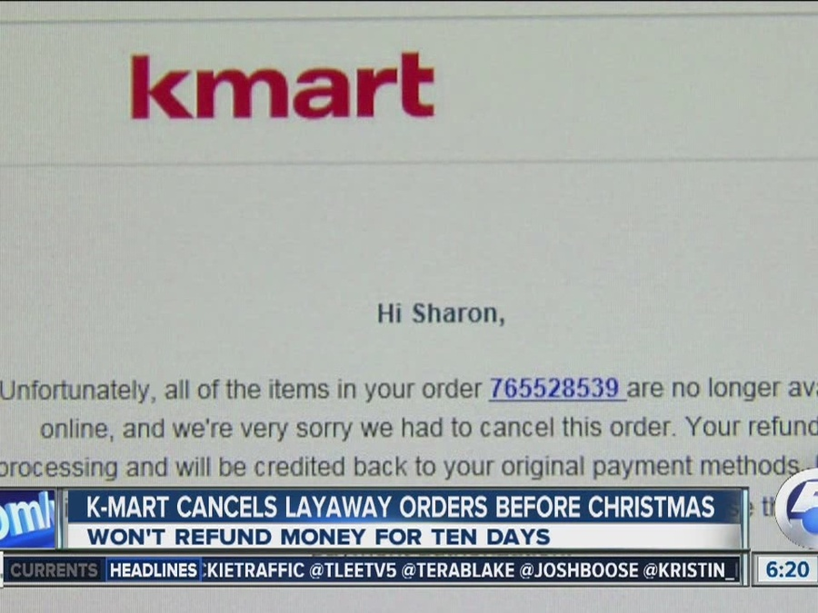 Kmart layaway contract canceled: Shoppers get email that toys will ...