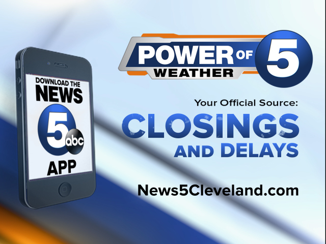 LIST: School closings and delays