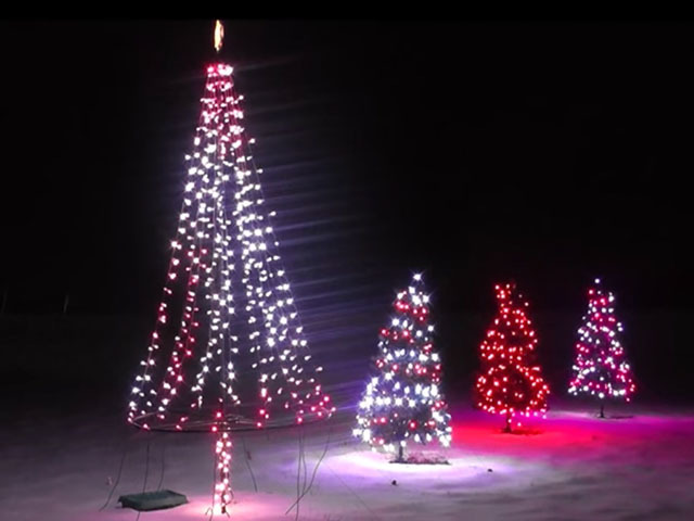 University Of Akron Computer Technician Allows World To Display Holiday  Lights On His House   News 5 Cleveland