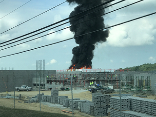 Fire breaks out at school construction site