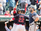 Indians double-header in rain delay