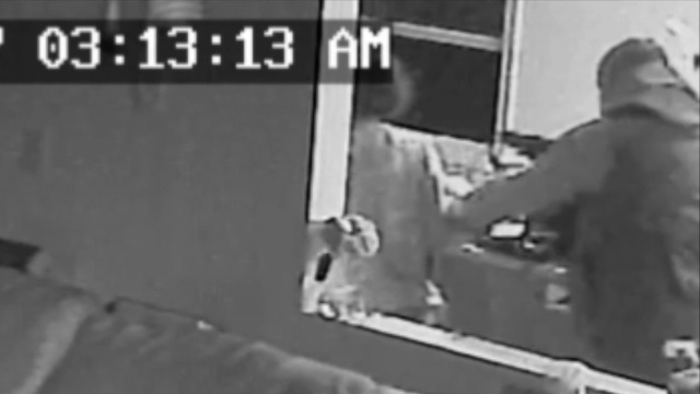 Surveillance Video  >> Video Home Surveillance Video Shows Masked Man Robbing Mother While