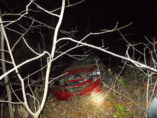 Suspected drunk driver survives 50-foot fall