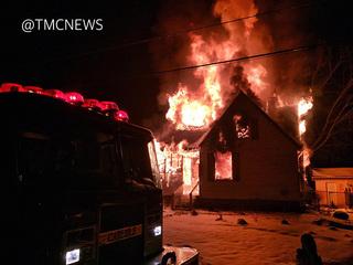 Massive house fire in Carlisle Township