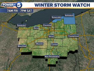 Winter Storm Watch issued for this weekend